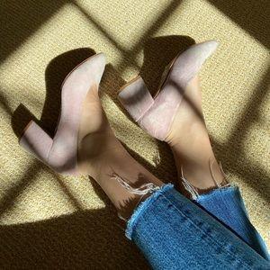 M4D3 lilac Helen Block Heels